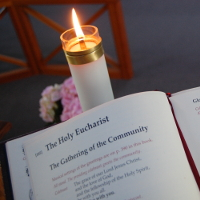 Altar Missal and Candle